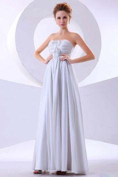 Buy 2013 Bridesmaid Dresses White A Line Empire Waist Sweetheart Floor Length Chiffon latest design at online stores, high quality of cheap wedding dresses, fashion special occasion dresses and more, free shipping worldwide.