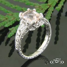 #2 Would need to be made for an emerald cut, not an octagonal shaped stone. So pretty, I'm in love <3 (Take the top part of #1 and put it with the sides/bottom part of this one and you've got a dream ring!)