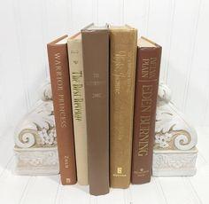 Brown Decorative Book Set. Shelf decor Mantel Decor Shelf decorating mantel decorating. Buy On Etsy Now