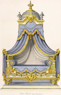 French Furniture, Vintage Furniture, Neoclassical Interior, Empire Style, Paper Houses, Curtain Designs, Furniture Styles, Furniture Design, Drapes Curtains