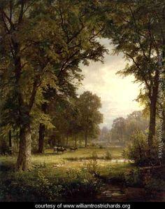 Idyllic Landscape - William Trost Richards - www.williamtrostrichards.org