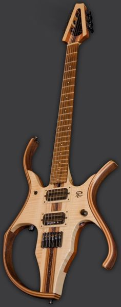 Laminated and bent wood electric guitar
