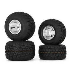 Go Kart Wheels Go Kart Rain Tires Set of 4 Rim & Tyre Durable 10X4.50-5 11x6.0-5 | eBay Go Kart Wheels, 5th Wheels, Wheels And Tires, Go Kart Tires, Go Kart Frame, Radio Flyer Wagons, Go Car, Tired, Rain