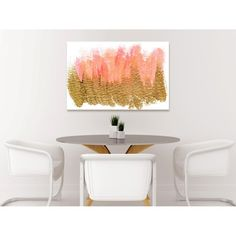 BEDROOM!!!!  Pastel Gold Charm Canvas Print, Oliver Gal