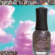 Digital Glitter from #ORLYSurreal. Available now at http://www.orlybeauty.com/nail-color/nail-color-by-collection/surreal-5.html