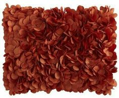 Pier one petals throw pillow- burnt orange