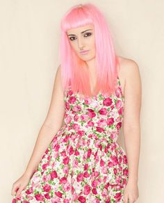 50's rockabilly dress with halter straps Pink and by Cyanidekissx, £55.00