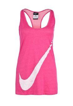 $37.98 nice Nike Womens Nike Swoosh Sleeveless Tank Top-Pink/White