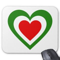 Italy/Italian Flag-inspired Hearts Mouse Pad - red gifts color style cyo diy personalize unique