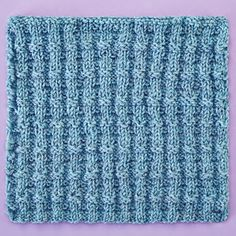 Knitterati Afghan Block 26 by Carol J. Sulcoski using Cascade Yarns® 220 Superwash®. Knits and purls are worked in an alternating ridge pattern in this simple block.