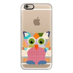 iPhone 6 Plus/6/5/5s/5c Case - Seaview beauty triangles owl... (€37) ❤ liked on Polyvore featuring accessories, tech accessories, iphone case, transparent iphone case, apple iphone cases and iphone cover case