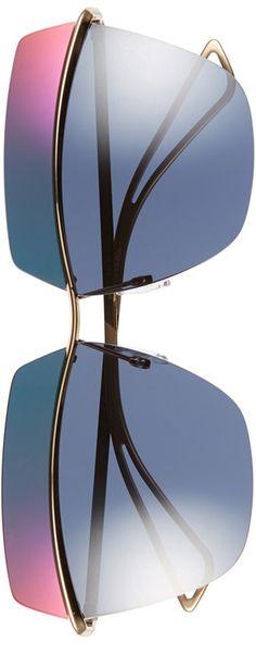 Dior 63mm Retro Metal Sunglasses Rose Gold/Blue Mirror