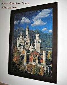 Framing puzzles. Exactly how I intend to decorate from now until forever.