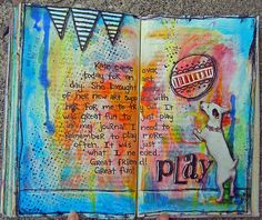 Play by Jolene Eborn Mixed Media Journal, Mixed Media Art, Mix Media, Altered Books, Smash Book, Moleskine, Art Journal Pages, Art Journals, Kunst