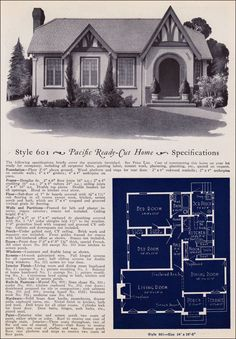 1927 brick houses the swanee vintage house plans 1920s for Pacific homes kit homes