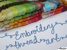 Embroidery Thread Art  at www.elistonbutton.com - Eliston Button - That Crafty Kid