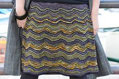 golfjes a skirt by atelier alfa. malabrigo Sock in Turner, Eggplant , Black and other yarns. Crochet Skirts, Knit Skirt, Malabrigo Sock, Knitting Patterns, Stitch Patterns, Crochet Coat, Yarn Inspiration, Sock Yarn, Knitting Yarn