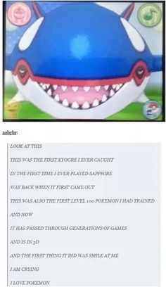 Kyogre. It loves you