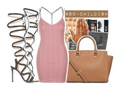 """""""Blush. ✨"""" by s0-childish ❤ liked on Polyvore featuring MICHAEL Michael Kors, Gianvito Rossi and Topshop"""