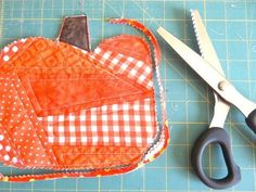 use pinking shears around the sides