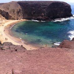 Playa de papagayo, Lanzarote, Las Islas Canarias (the Canary Islands), Spain