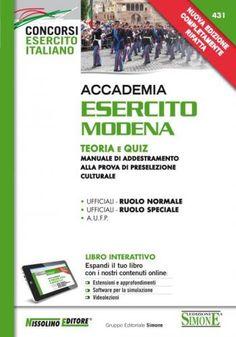 #Accademia esercito modena. teoria e quiz. EAN: 9788850501922  ad Euro 28.90 in #Ibs #Libri