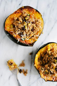 Meal Planning Monday ~ Vegetarian Options for Holiday Gatherings ***   Quinoa Stuffed Acorn Squash & Others