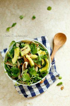 Insalata di pollo, zucchine e avocado | Cucina Scacciapensieri