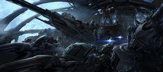 Transformers 3 concept art by Ryan Church