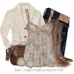f41b5e533e Belted Cardigan   Floral Babydoll Top