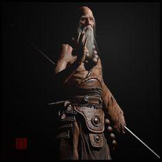 Old monk, wandong xu on ArtStation at https://www.artstation.com/artwork/old-monk