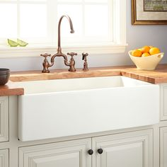 Dorhester Fireclay Reversible Farmhouse Sink With Smooth Apron