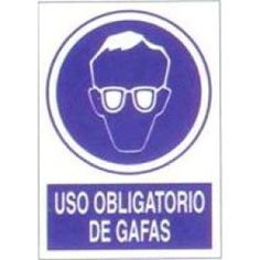 Señal Uso Obligatorio de Gafas - http://www.janfer.com/es/obligacion/608-senal-uso-obligatorio-dgafas.html