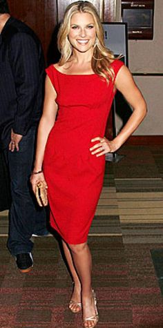 Look of the Day › July 22, 2008 Larter added metallic Jimmy Choos and a Coach clutch to her formfitting dress.