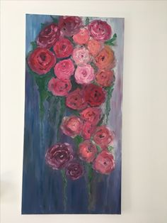 """Flowers"" -  original oil Painting 50cm/100cm by Carmen Aurariu"