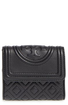 4a074b358e23 Free shipping and returns on Tory Burch  Mini Fleming  Quilted Lambskin  Leather Wallet at