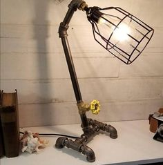 Industrial Lighting / Industrial L& / Edison L& / Office L& / Pipe L& with Metal Shade & 117 best DIY Industrial Lighting Ideas images on Pinterest | Light ...