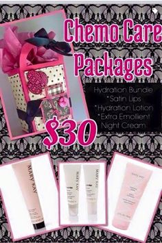 Packages especially put together for your special cancer warrior. You can order them online at www.marykay.com/tseals or call me at 601-441-3385