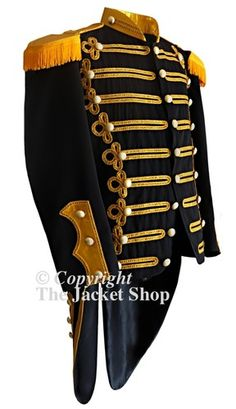 Captains Military Parade Band Jacket With Tails