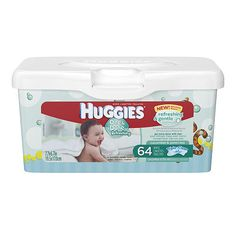"""Huggies One & Done Naturally Refreshing Baby Wipe Scented Tub - 64 COunt - Kimberly Clark Corp. - Babies """"R"""" Us"""