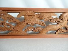 RANMA JAPANESE TRANSOM | Details about Japanese Hand Carved Wood Sculpture Ranma Transom Pine ...