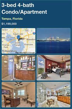 3-bed 4-bath Condo/Apartment in Tampa, Florida ►$1,199,000 #PropertyForSale #RealEstate #Florida http://florida-magic.com/properties/8654-condo-apartment-for-sale-in-tampa-florida-with-3-bedroom-4-bathroom