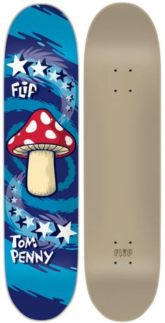 love this graphic! tom penny classic reissue magic mushroom #skateboard #deck