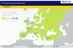 The climate map. An infographic for Hay Group.