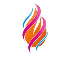Releasing the fire element. blissed client energy logo for a lecturer with high ambitions. - bliss design, Sweden.