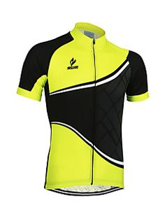 Arsuxeo Men s Short Sleeve Cycling Jersey Patchwork Classic Bike Jersey Top 21a17036e