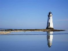 Lighthouse reflections, road to Tybee Island-