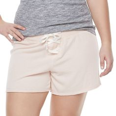 Juniors' Plus Size SO® Lace-Up Lounge Shorts, Teens, Size: 3XL, Lt Orange