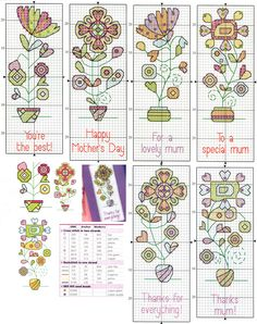 Gráficos de marcadores de livros. Cross stitch bookmarks patterns