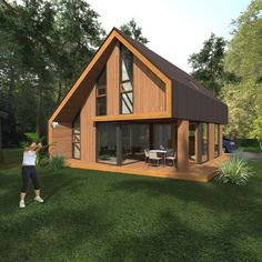 Recreatiewoning ontwerp Cottage Style Homes, Wildlife Park, Shed, Outdoor Structures, Cabin, House Styles, Rv, Home Decor, Modern Houses